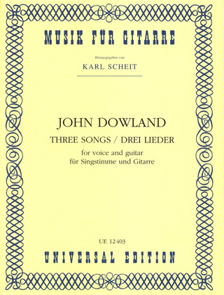 John Dowland: Three Songs