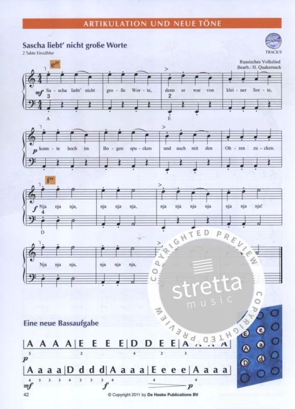 Leon spielt Akkordeon 1 Musiknoten Akkordeon Noten