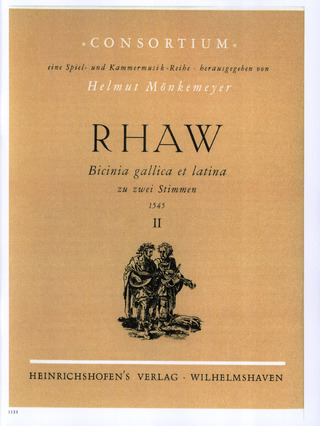 Rhaw Georg: Bicinia gallica et latina 1545