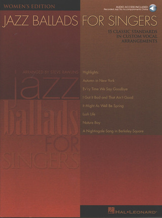 Rawlins Steve: Jazz Ballads For Singers - Women's Edition