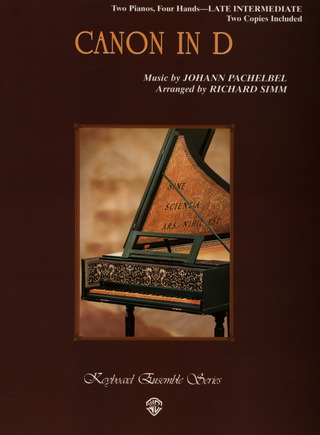 Johann Pachelbel: Canon In D Two Pianos Four Hands Late Intermediate 2 Copies Included