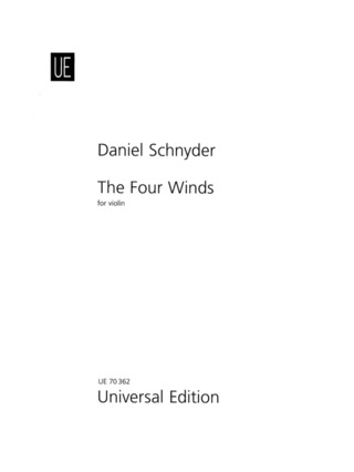 Daniel Schnyder: The Four Winds für Violine (2008)