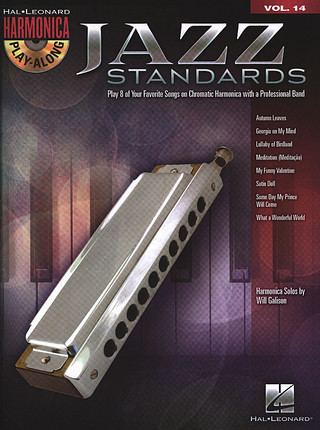 Harmonica Play Along Jazz Standards Volume 14 Book And CD