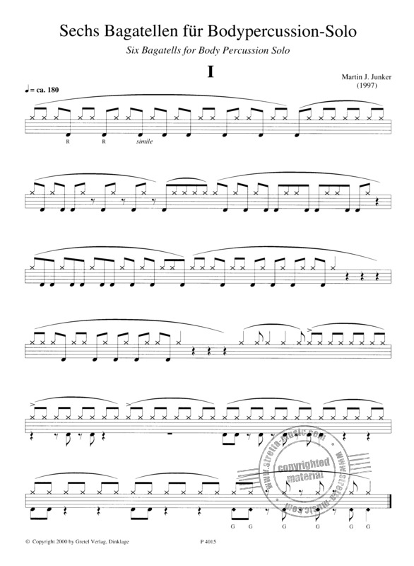 Junker Martin J.: 6 Bagatellen For Body Percussion (1)
