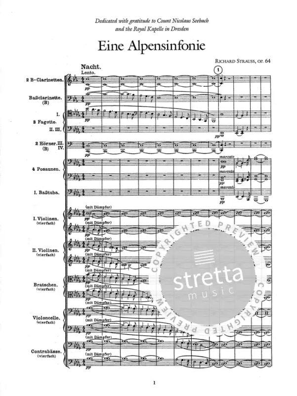 Eine Alpensinfonie and Symphonia Domestica in Full Score