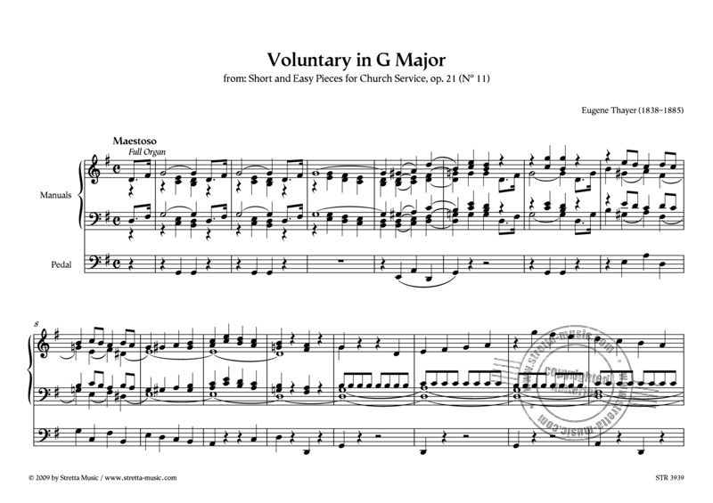 Eugène Thayer: Voluntary in G Major