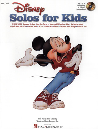 Disney Solos For Kids Piano/Vocal Bk/Cd