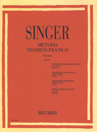Sigismondo Singer: Theoretical and Practical Oboe School 3