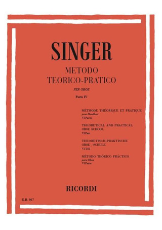 Sigismondo Singer: Theoretical and Practical Oboe School 4