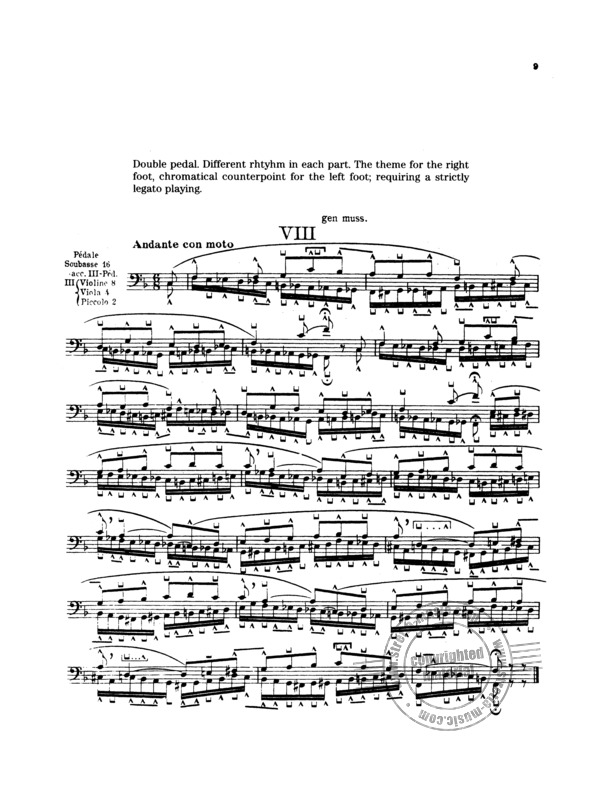 Flor Peeters: 10 Studies for Pedal Playing (3)