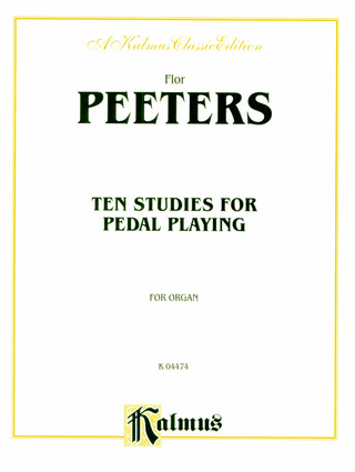 Flor Peeters: 10 Studies for Pedal Playing