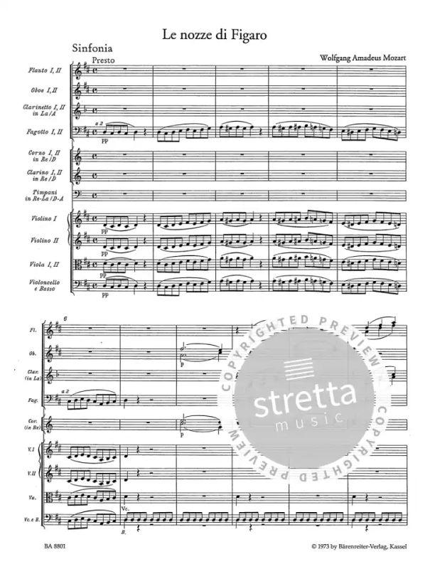 Le nozze di Figaro (Die Hochzeit des Figaro) KV 492 von