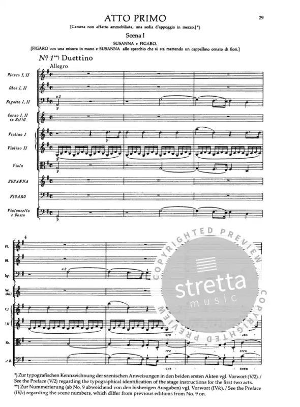 Le nozze di Figaro/ Die Hochzeit des Figaro von Wolfgang