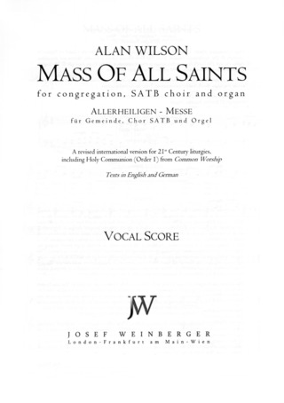 Alan Wilson: Mass of All Saints