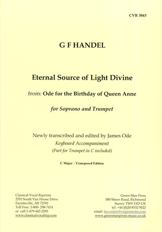 Georg Friedrich Händel: Eternal Source of Light Divine