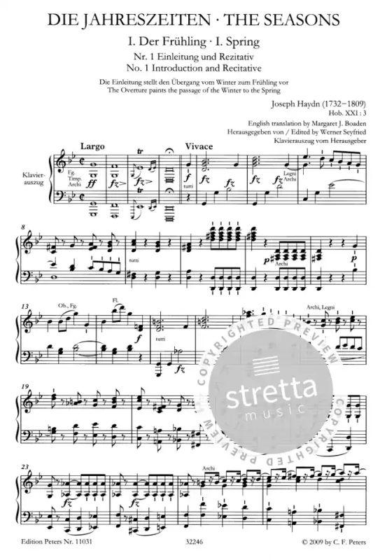 Joseph Haydn Die Jahreszeiten