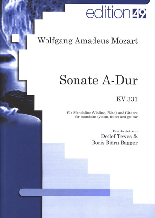 Wolfgang Amadeus Mozart: Sonate A-Dur KV 331