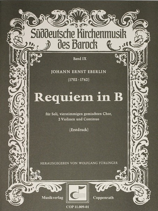 Johann Ernst Eberlin: Requiem in B B-Dur