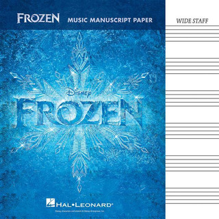 Frozen: Music Manuscript Paper - Wide Staff
