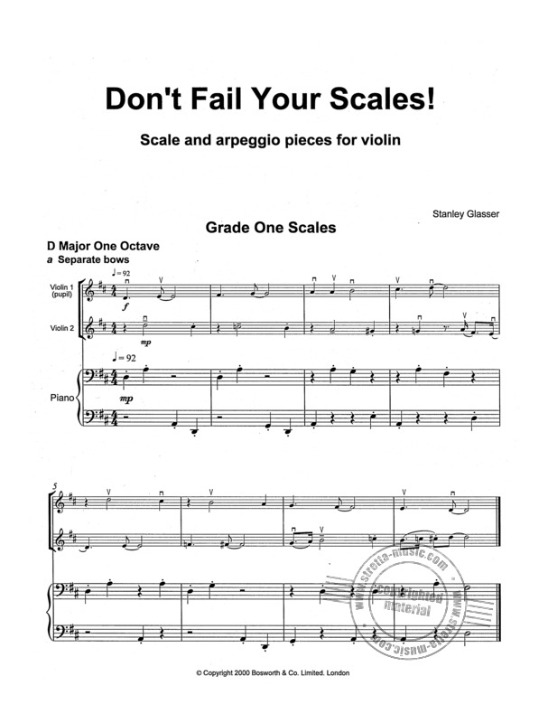 Stanley Glasser: Don't Fail Your Scales! (1)