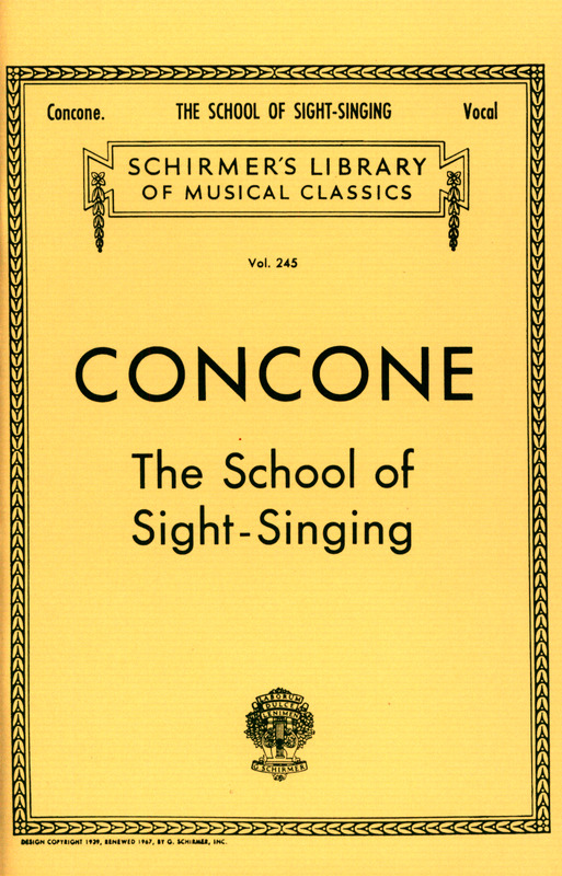 Giuseppe Concone: School Of Sight Singing