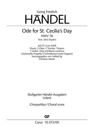 George Frideric Handel: Ode for St. Cecilia's Day HWV76