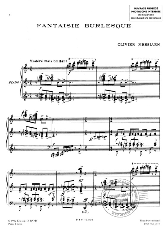 Olivier Messiaen: Fantaisie Burlesque Piano (1)