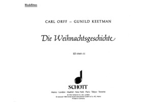 Carl Orff et al.: The Christmas Story
