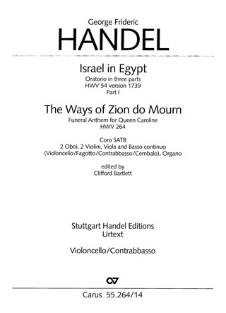 George Frideric Handel: Israel in Egypt - Part I (1739)