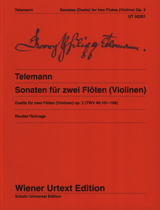 Georg Philipp Telemann et al.: 6 Sonatas for 2 flutes (or violins) op. 2