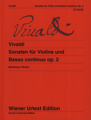 Antonio Vivaldi: Sonatas for Violin and Basso Continuo