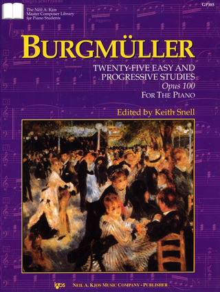 Friedrich Burgmüller: Burgmuller 25 Easy And Progressive Studies op. 100 For Piano Book Only