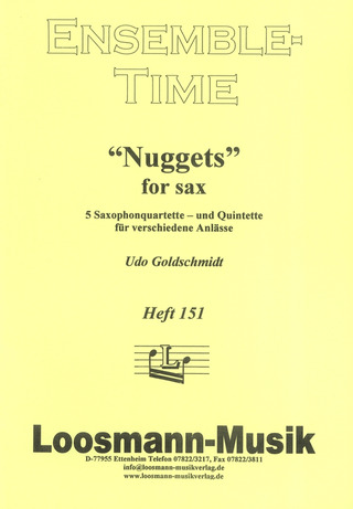 Udo Goldschmidt: Nuggets for Sax