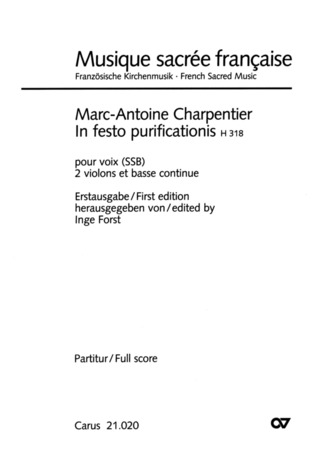 Marc-Antoine Charpentier: In festo purificationis H 318
