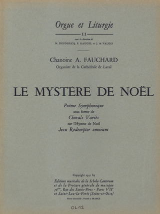 "Fauchard, A.: Le Mystère de Noel ""Collection pour grand orgue"""