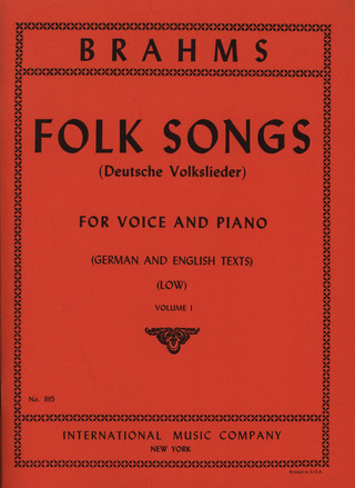 Johannes Brahms: Folk Songs 1