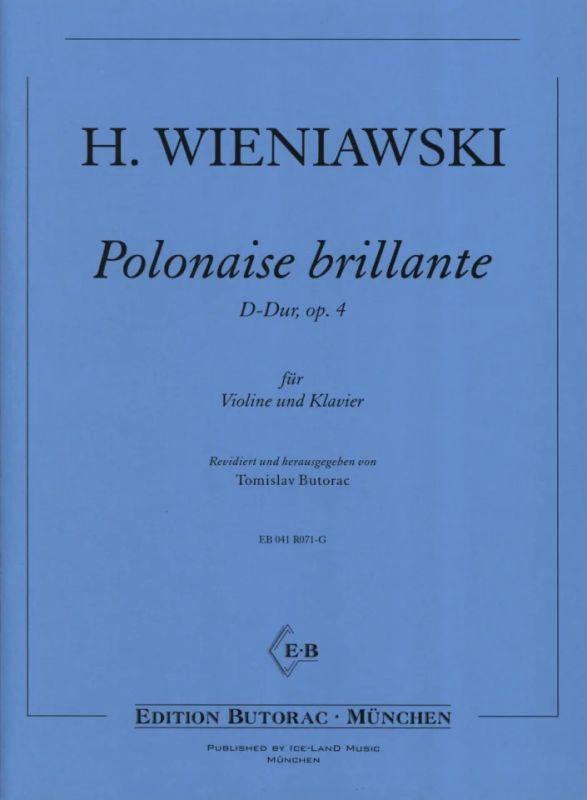 Polonaise Brillante D Dur Op 4 From Henryk Wieniawski Buy Now In Stretta Sheet Music Shop