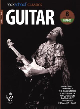 Rockschool Classics Guitar Grade 3 TAB Music Book//Audio Jimi Hendrix Metallica