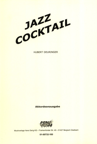 Hubert Deuringer: Jazz Cocktail
