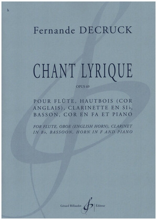Fernande Decruck: Chant lyrique op. 69