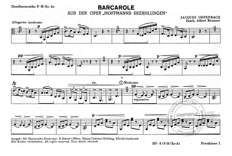 Jacques Offenbach: Barcarole (Hoffmanns Erzaehlungen) (1)