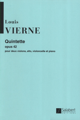 Louis Vierne: Quintette Cordes / Piano Partition Et Parties