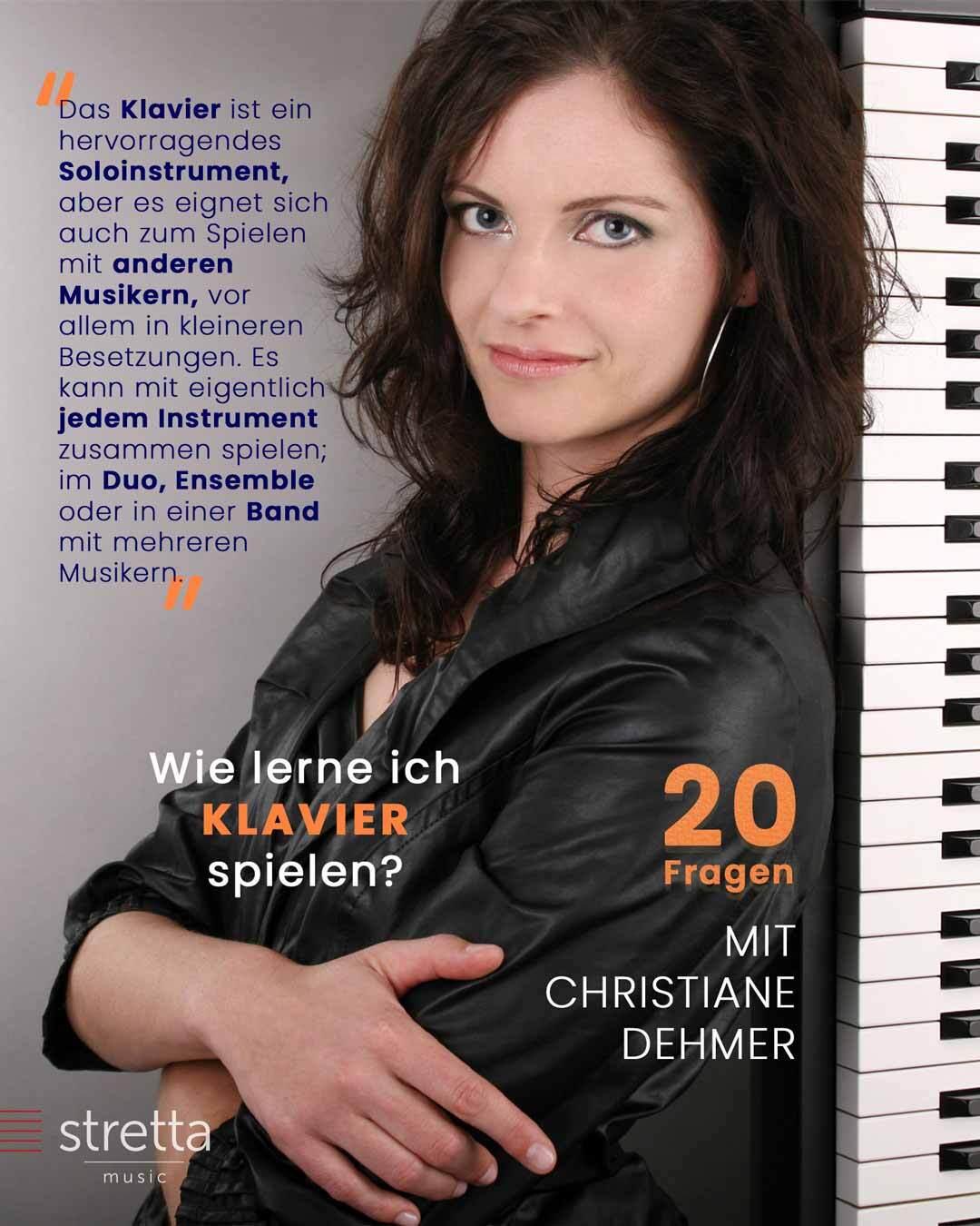 Klavier lernen – 20 Fragen an Christiane Dehmer