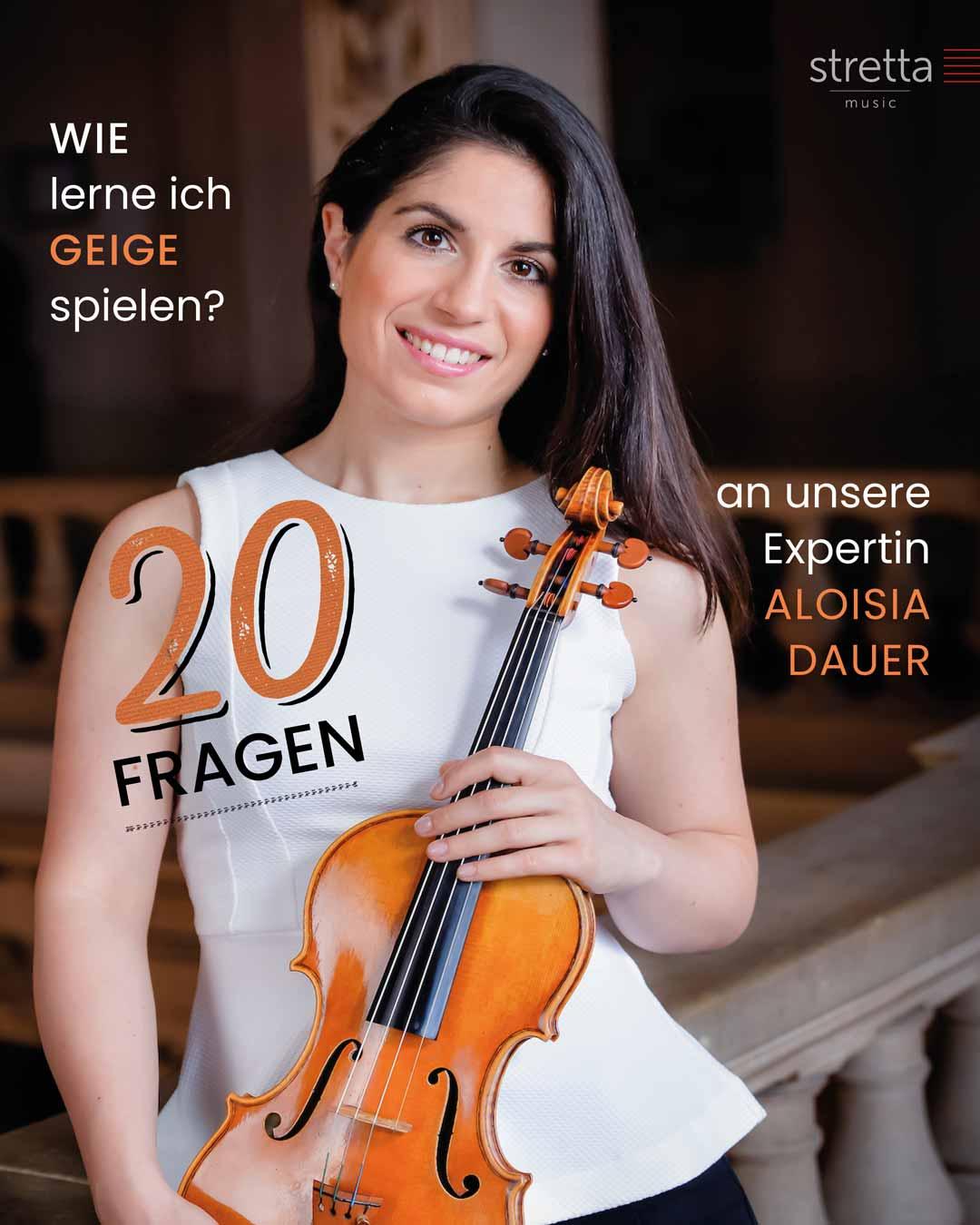 Geige lernen – 20 Fragen an Aloisia Dauer