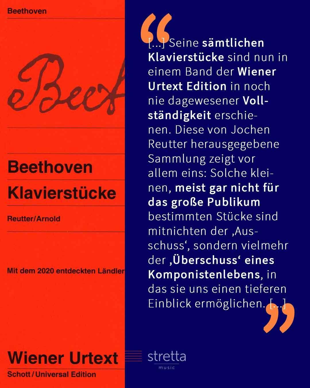Neue Noten für Elise – Klavierstücke von Beethoven in der Wiener Urtext Edition und bei Bärenreiter