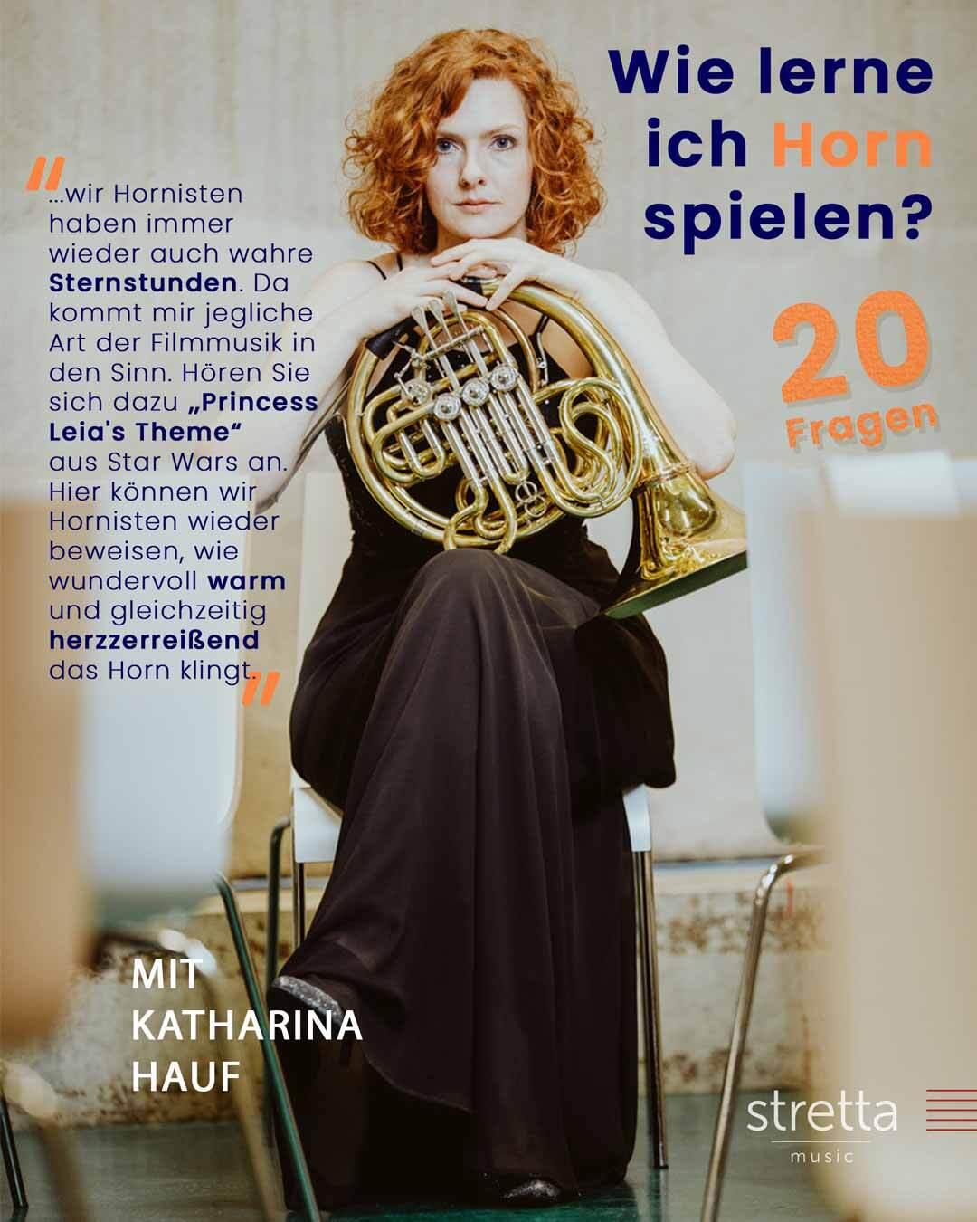 Horn lernen – 20 Fragen an Katharina Hauf