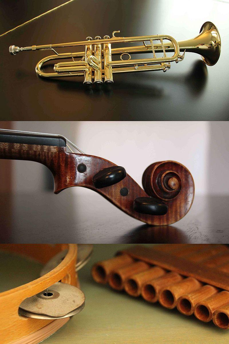 Verschiedene Instrumente